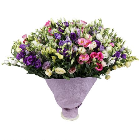 Bouquet 101 multicolored eustoma