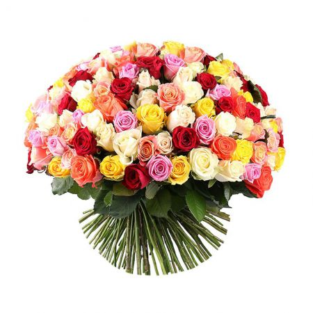Bouquet 175 multi-colored roses