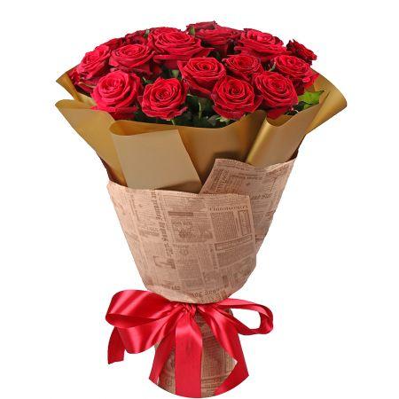 Bouquet 21 roses Lviv