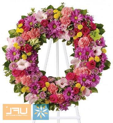 Bouquet Funeral arrangement of fresh flowers №10