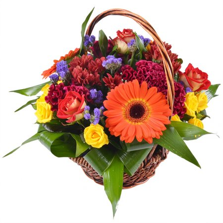 Bouquet In basket