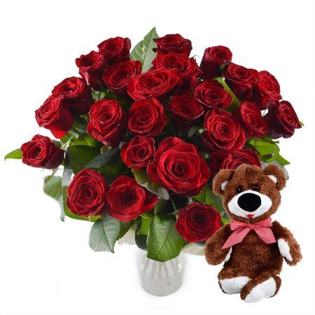 Bouquet Promo! Ruby bouquet + teddy bear for free!!!