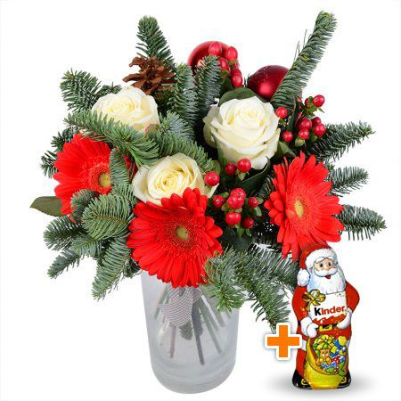 Bouquet Christmas tree bouquet+Chocolate Santa Claus