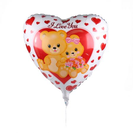 Product Helium balloon Heart with bears
