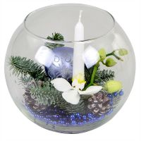 Buy a Christmas flower arrangement in a vase