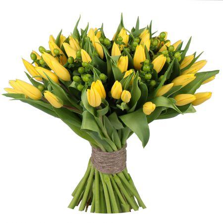 Bouquet Yellow tulips 51