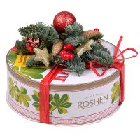 Product Kyiv cake with Christmas decor