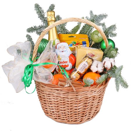 Product Basket under Christmas tree