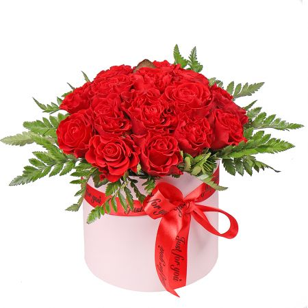 Bouquet Red roses in a box