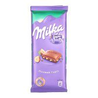 Product Milka with hazelnuts