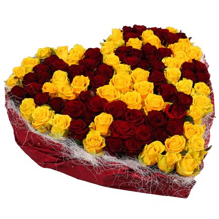 Bouquet Red and Yellow Heart