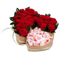 Bouquet Two Hearts (with Raffaello)