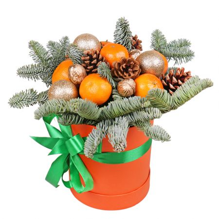 Product Christmas box with tangerines