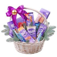 New Year basket Milka