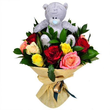 Bouquet With teddy bear