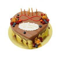 Product Cake to order - Heart with Candles