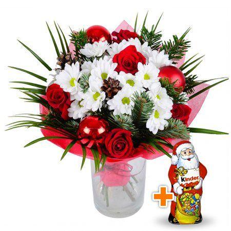 Bouquet Wintry+Chocolate Santa Claus