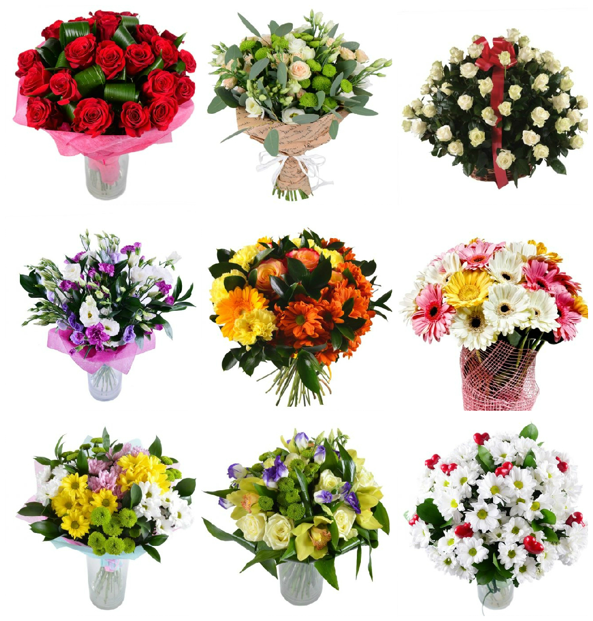 Different variants for bouquets for men at GE-Flowers.com
